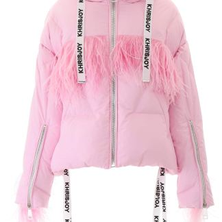 KHRISJOY KHRIS PUFFER JACKET WITH FEATHERS 0 Pink Technical
