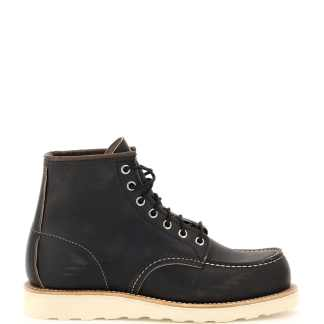 RED WING SHOES CLASSIC MOC ANKLE BOOTS 8 Grey, Black, Brown Leather