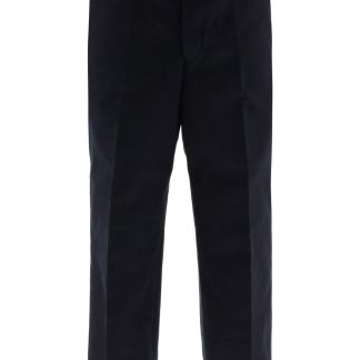 THOM BROWNE WIDE LEG TROUSERS 1 Blue Cotton