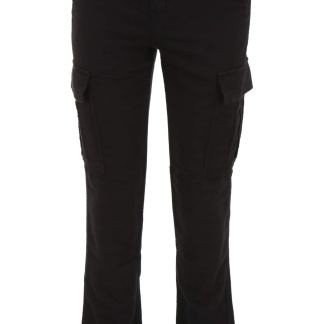 RTA BELTED CARGO TROUSERS XS Black Cotton