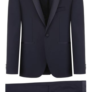 TAGLIATORE BRUCE TWO-PIECE SUIT 46 Blue Wool