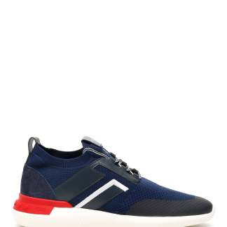 TOD'S NO CODE 02 SNEAKERS 7 Blue, White, Red Technical, Leather