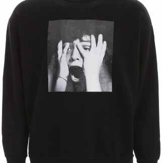 MARCELO BURLON SCARED FACE SWEATSHIRT XS Black Cotton