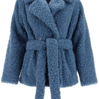 STAND TIFFANY ECO SHEARLING PEACOAT 38 Light blue Faux fur
