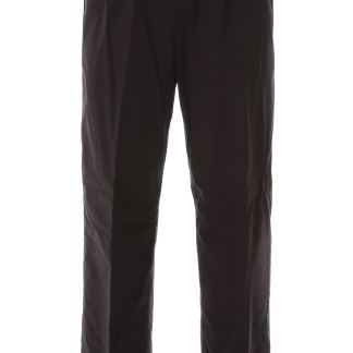 KENZO CROPPED JOGGERS S Black Cotton