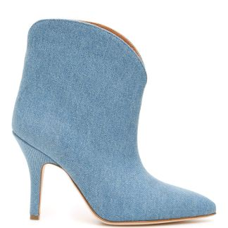 PARIS TEXAS DENIM BOOTS 36 Light blue Cotton