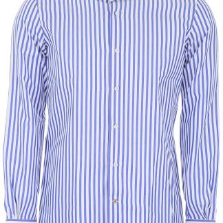 MAZZARELLI STRIPED SHIRT 39 White, Blue Cotton