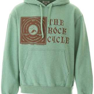 PHIPPS ROCK CYCLE HOODIE S Green, Brown Cotton