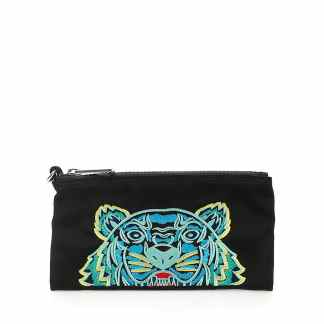 KENZO TIGER POUCH WALLET OS Black Technical