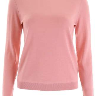RED VALENTINO PULLOVER WITH PLUMETIS INSERT S Pink Wool