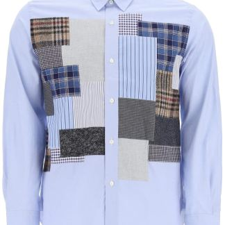 JUNYA WATANABE PATCHWORK SHIRT S Light blue, Blue, Brown Cotton