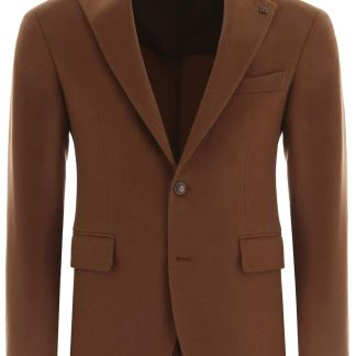 TAGLIATORE FORMAL VESUVIO JACKET 50 Brown Wool