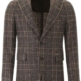 TAGLIATORE VESUVIO BLAZER 52 Black, Brown, Beige Wool