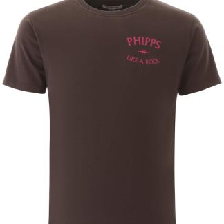 PHIPPS LIKE A ROCK T-SHIRT S Beige, Brown Cotton