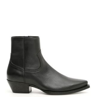 SAINT LAURENT LUKAS 40 BOOTS 36 Black Leather
