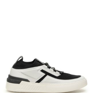 TOD'S NO CODE X SNEAKERS 7 Black, White Technical, Leather