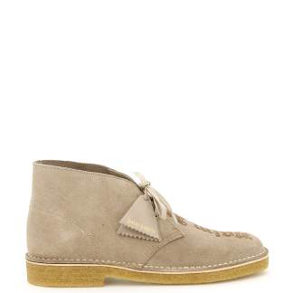 PALM ANGELS CLARKS DESERT BOOTS WITH LOGO 40 Beige Leather