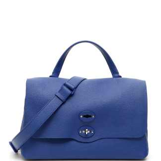 ZANELLATO PURA POSTINA M BAG OS Blue Leather