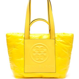 TORY BURCH PERRY BOMBE TOTE BAG OS Yellow Technical