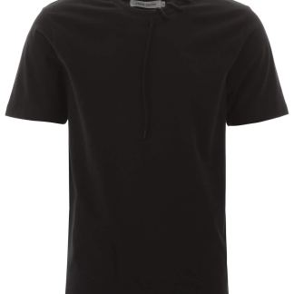 CRAIG GREEN T-SHIRT WITH SHOELACE S Black Cotton