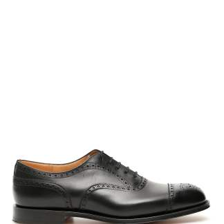 CHURCH'S DIPLOMAT LACE-UPS 9 Black Leather