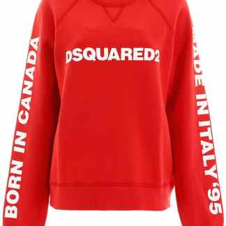 DSQUARED2 PRINTED SWEATSHIRT XS Red Cotton