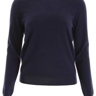 TORY BURCH BUTTONED CASHMERE PULL S Blue Cashmere