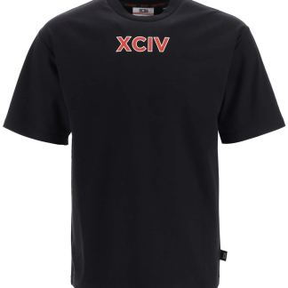 GCDS T-SHIRT WITH LOGO BAND S Black, Red, White Cotton