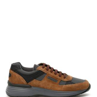 CHURCH'S CH873 SNEAKERS 5 Brown, Grey, Black Leather, Technical