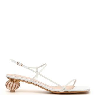 JACQUEMUS MANOSQUE SANDALS 40 White Leather