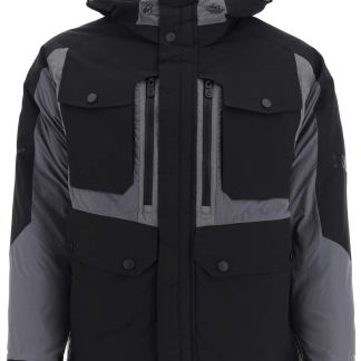 COLMAR AGE TWO-TONE HOODED DOWN JACKET S Black, Grey, White Technical, Cotton