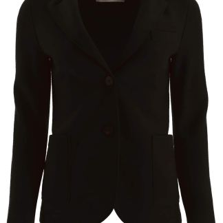 HARRIS WHARF LONDON SINGLE-BREASTED JACKET 38 Black Wool