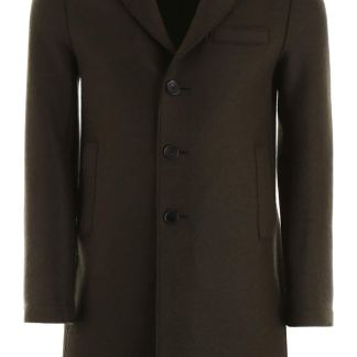 HARRIS WHARF LONDON BOXY COAT 52 Green Wool
