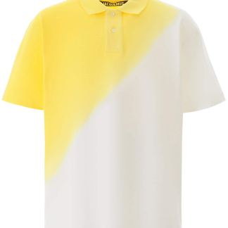 JACQUEMUS SOLEIL POLO SHIRT XS White, Yellow Cotton