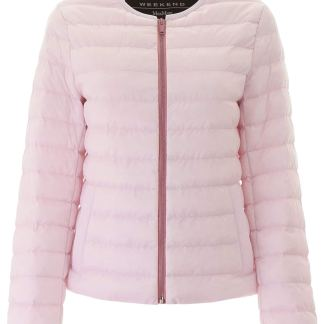 WEEKEND MAX MARA FIORIRE PUFFER JACKET 48 Pink Technical