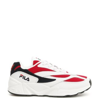 FILA LOW V94M SNEAKERS 45 White, Red, Blue Leather, Technical