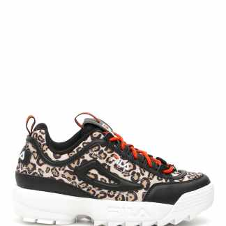 FILA DISRUPTOR ANIMAL SNEAKERS 7 Beige, Black, White Faux leather, Technical