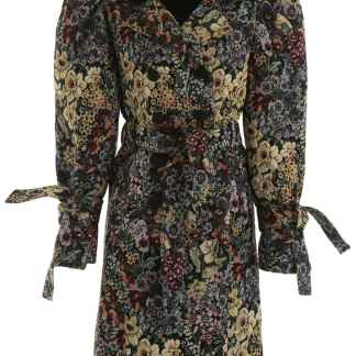 WANDERING JACQUARD COAT 40 Yellow, Green, Red Cotton
