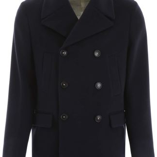 MASSIMO ALBA BELLAGIO PEA COAT 50 Blue Wool