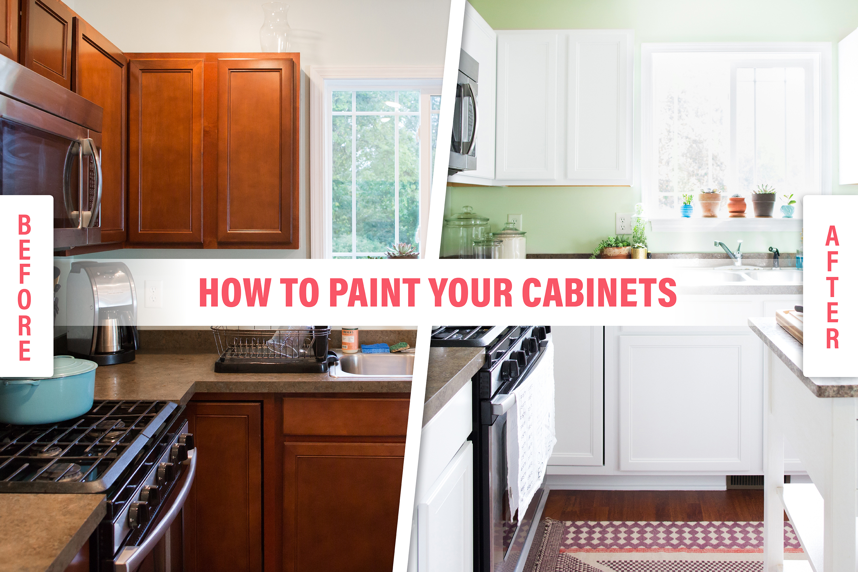 How To Paint Wood Kitchen Cabinets With White Paint Kitchn