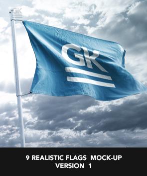 9 Realistic 3D Flag Mock Up`s - 43