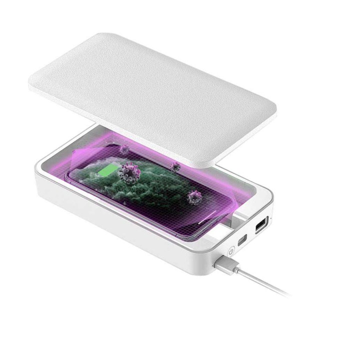 Two in one UV sterilization box an portable charger