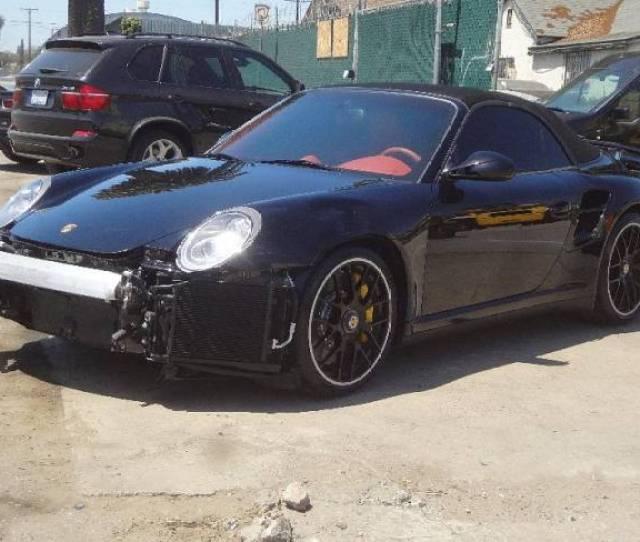 Ebay Find Chris Browns Crashed Porsche 911 Turbo S Cabriolet