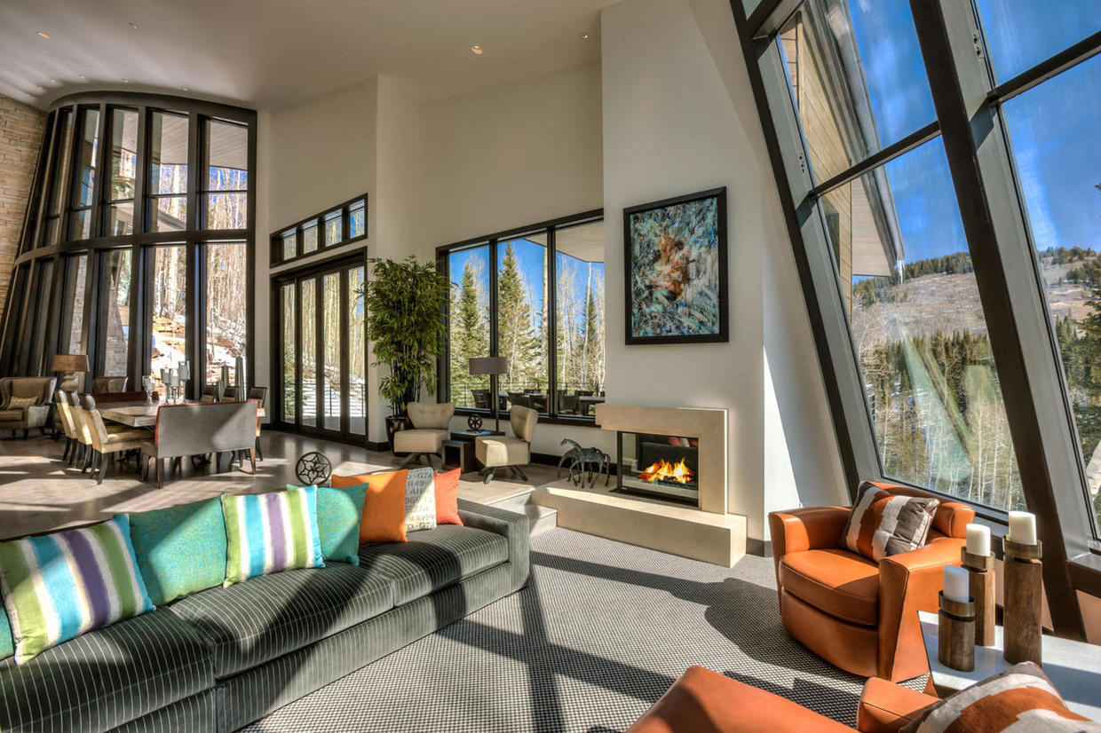 Stunning  14 5 Million Mansion Hits the Market in Park City   GTspirit Park City mansion lounge  Design wise
