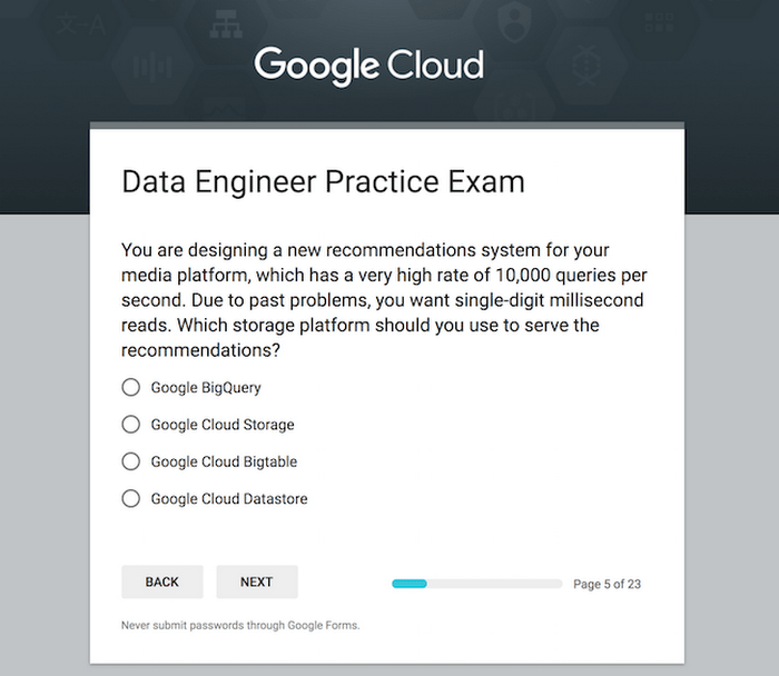 Practice Makes Perfect The Professional Data Engineer