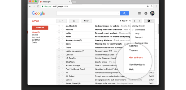 Google Mail: Gmail bekommt native Add-Ons