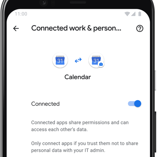 Android: Connected calendar