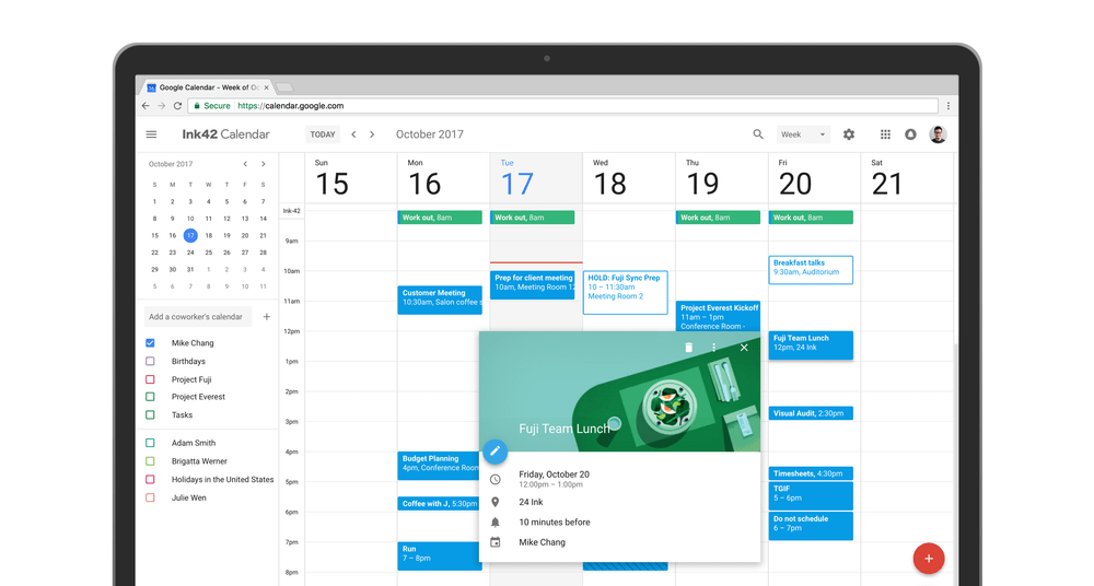 Time for a refresh: meet the brand new Google Calendar for internet