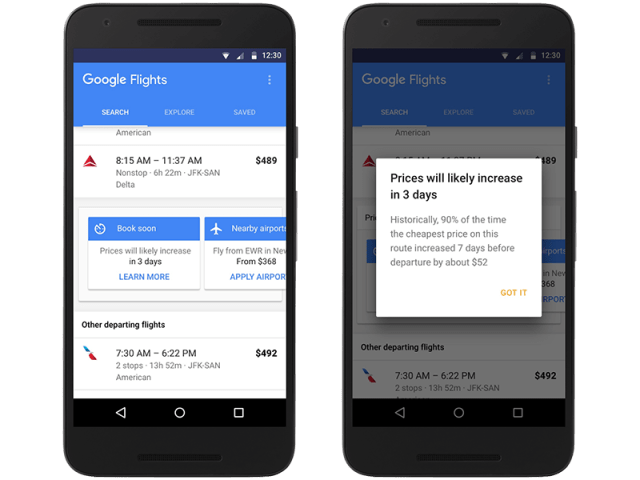 A look at the Google app