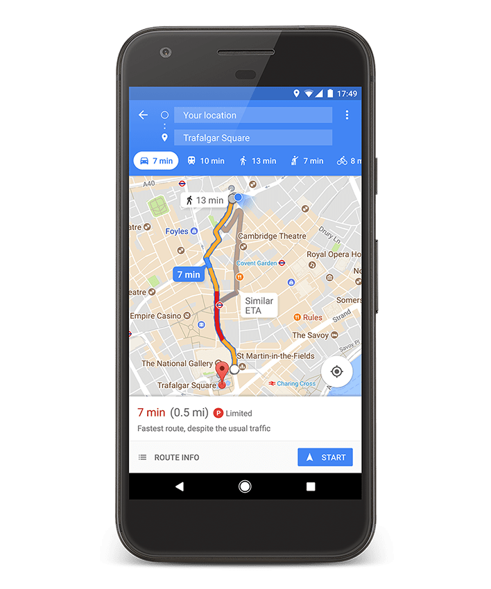 Put it in park with new options in Google Maps